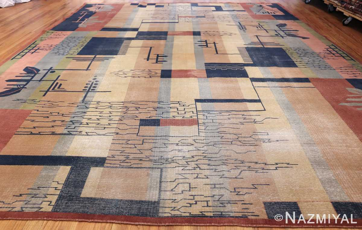 shabby chic antique art deco indian rug 49386 whole Nazmiyal