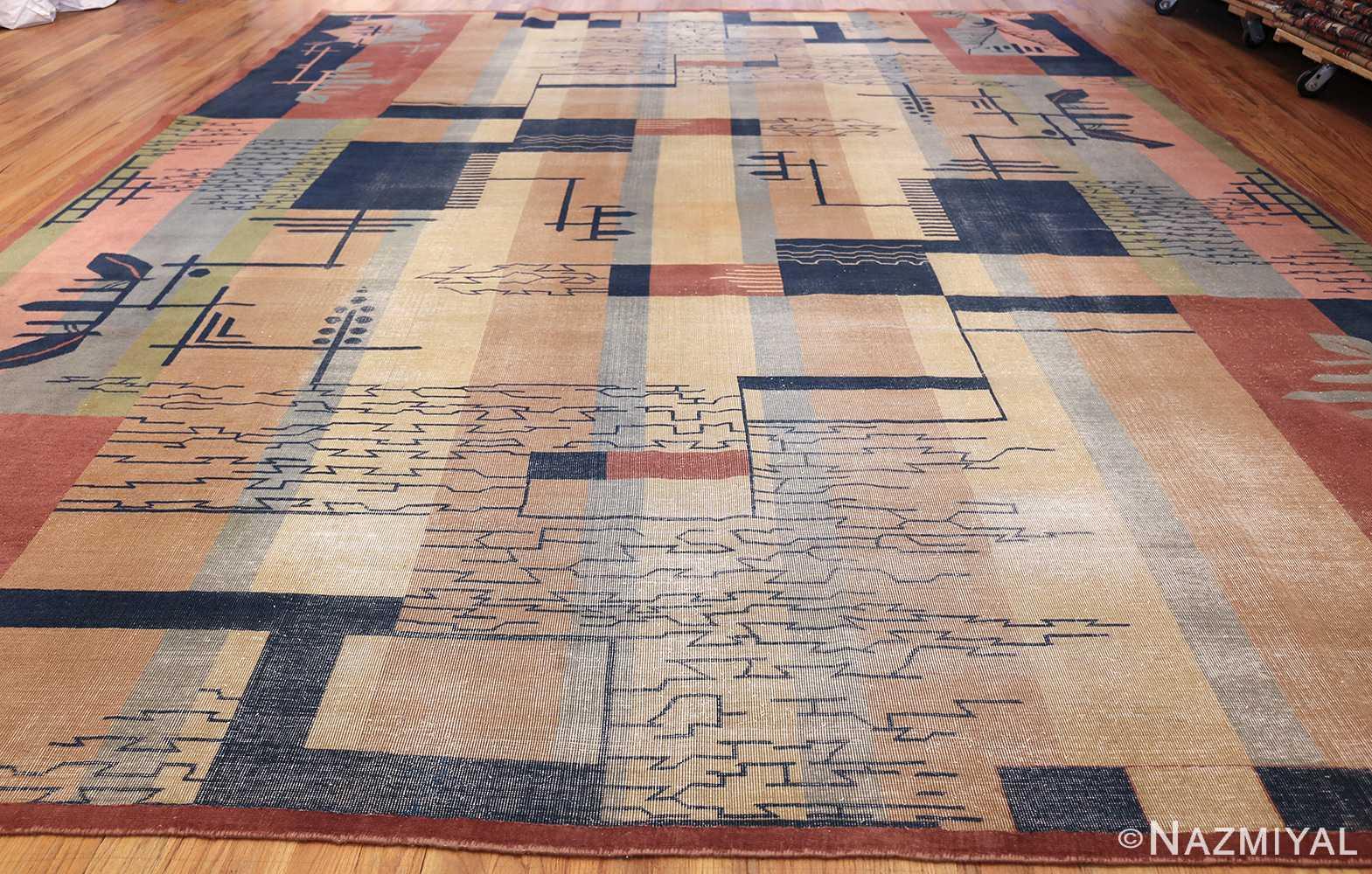 shabby chic antique art deco indian rug 49386 whole Nazmiyal