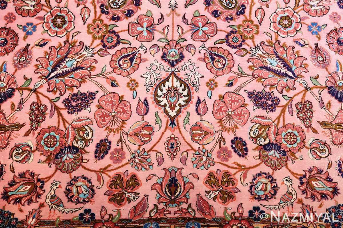 small size fine silk qum modern persian rug 49419 animal Nazmiyal