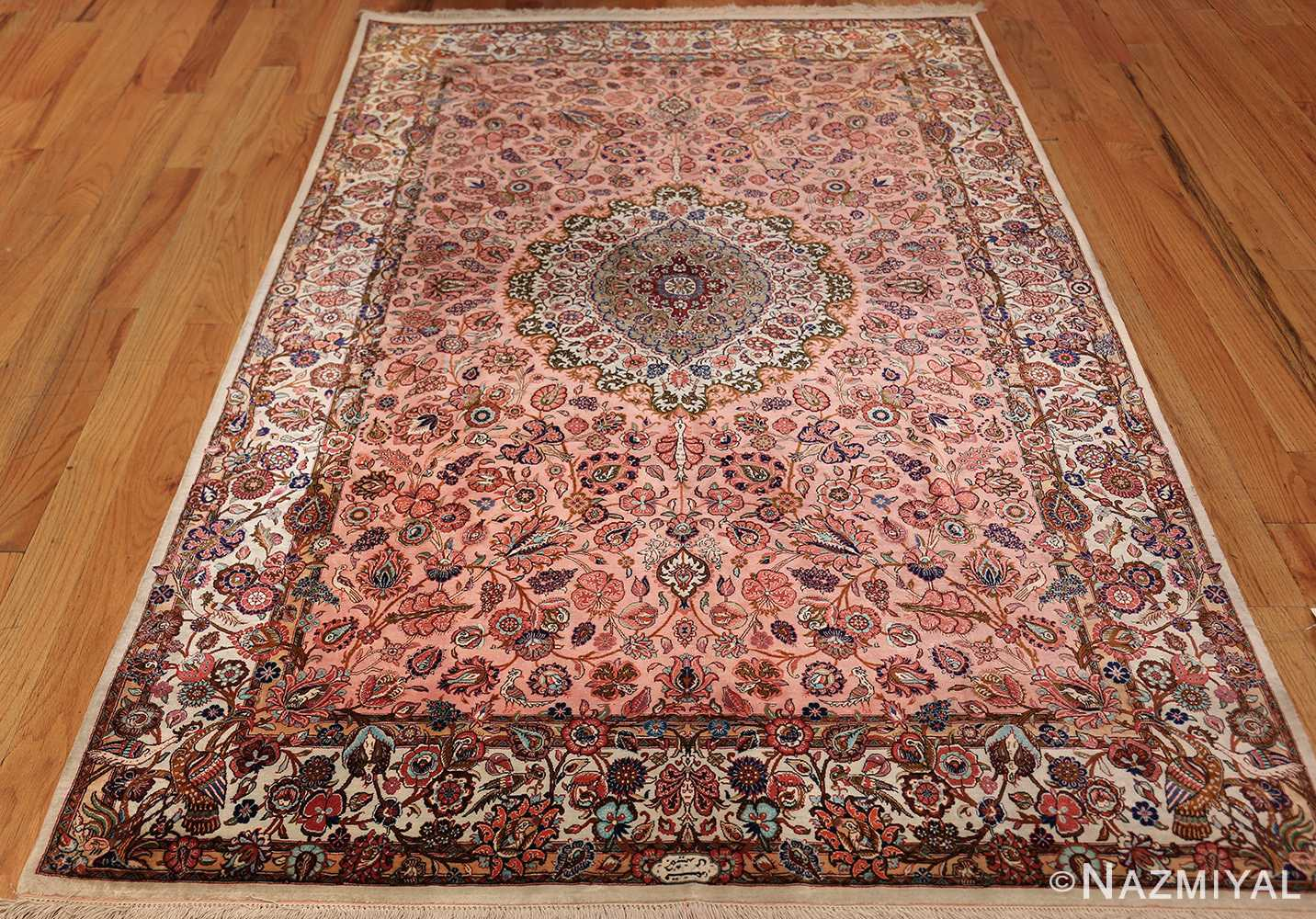 small size fine silk qum modern persian rug 49419 whole Nazmiyal