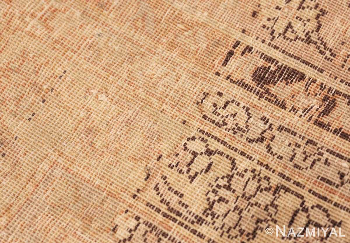 Weave detail Large floral Ivory and gray Antique Turkish Sivas rug 50416 by Nazmiyal