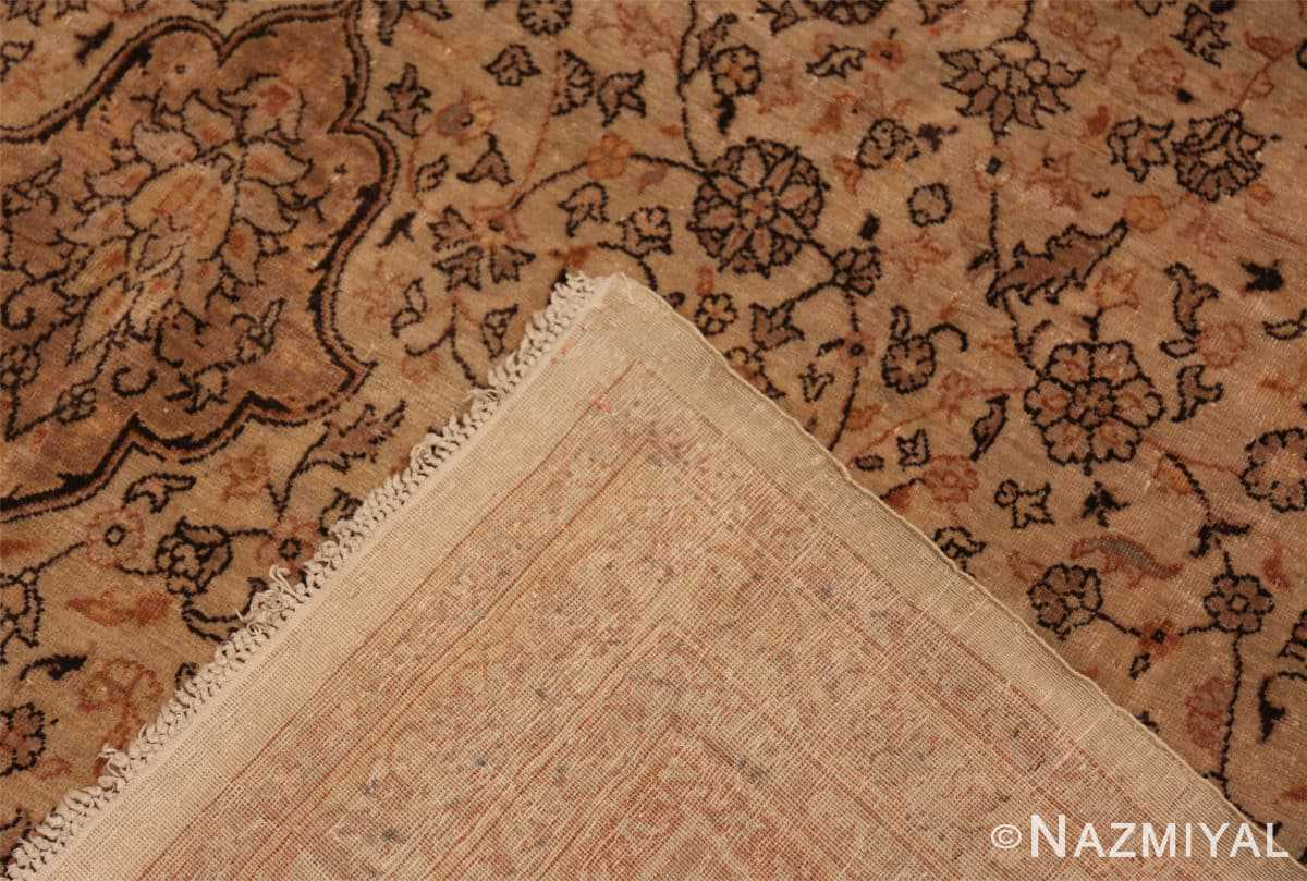 Weave Large floral Ivory and gray Antique Turkish Sivas rug 50416 by Nazmiyal
