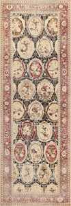 antique black karabagh caucasian rug 49314 Nazmiyal
