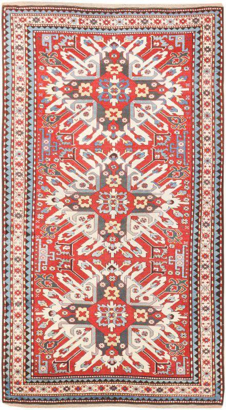Antique Caucasian Eagle Kazak Rug Nazmiyal