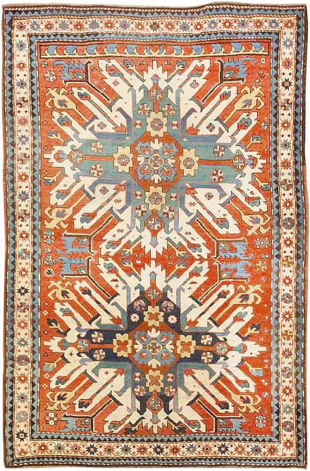 Tribal Caucasian Antique Eagle Kazak Rug by Nazmiyal