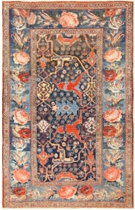 Antique Tribal Bidjar Persian Rug by Nazmiyal