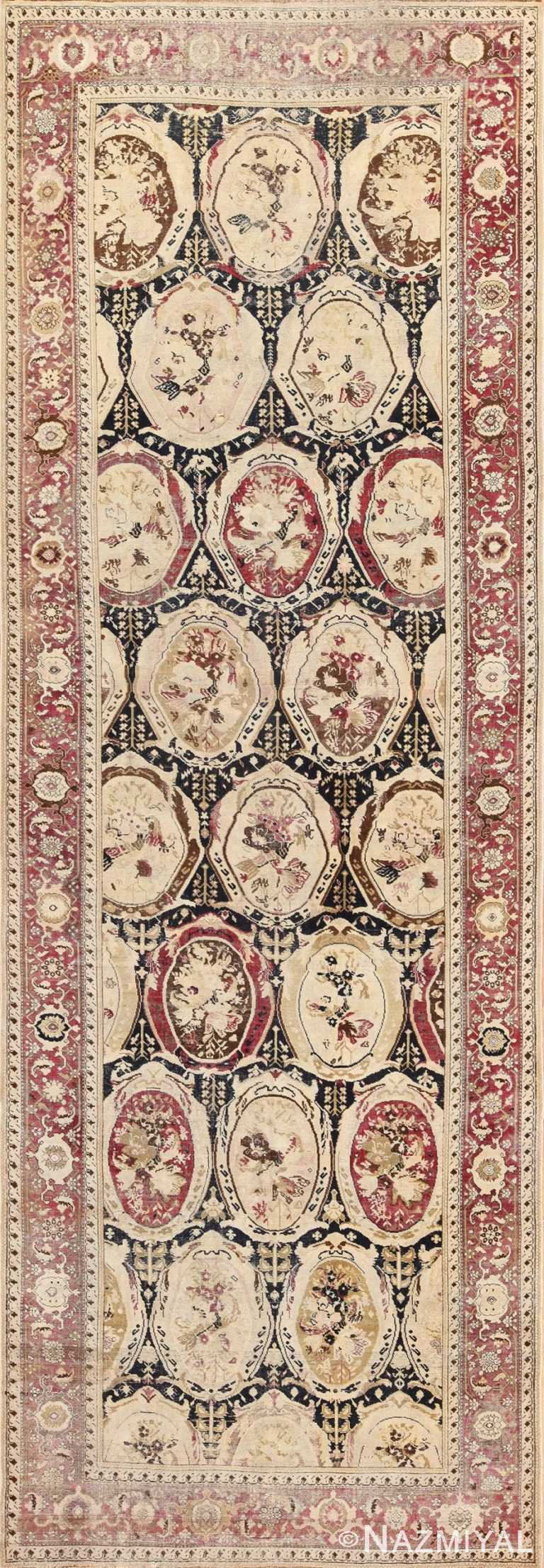antique black karabagh caucasian rug 49314 Nazmiyal