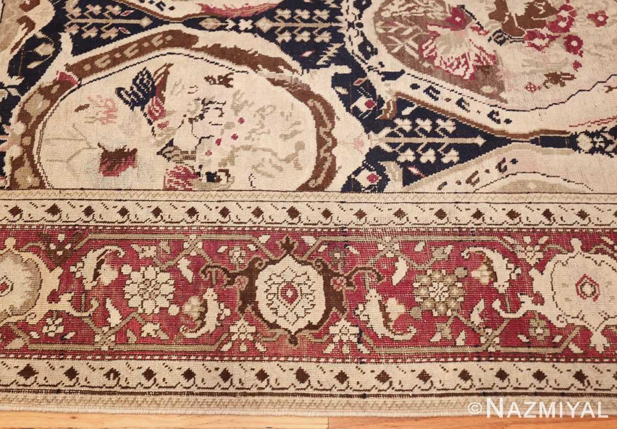 antique black karabagh caucasian rug 49314 border Nazmiyal