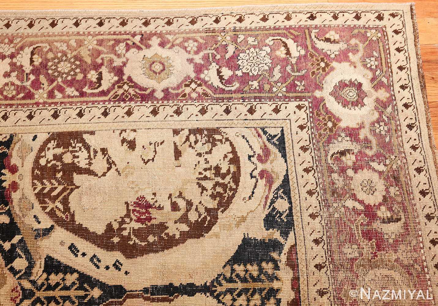 antique black karabagh caucasian rug 49314 corner Nazmiyal