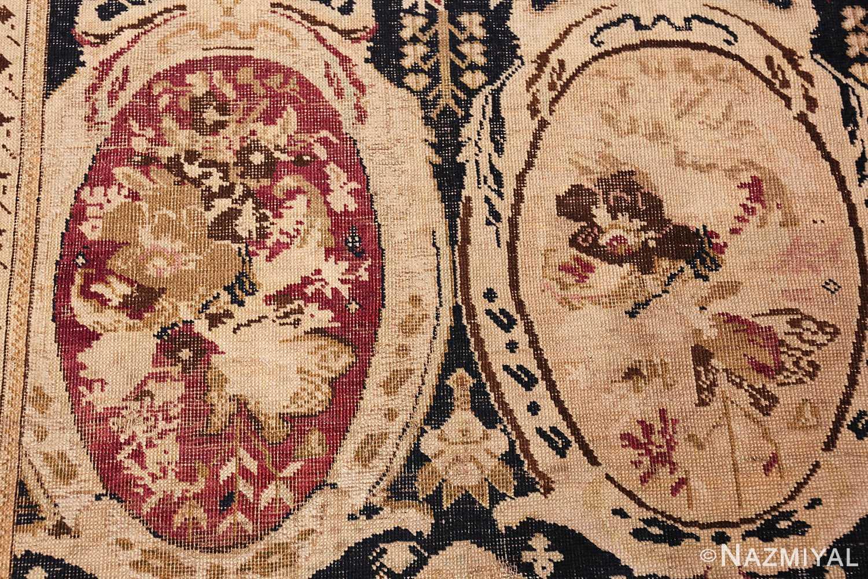 antique black karabagh caucasian rug 49314 double Nazmiyal