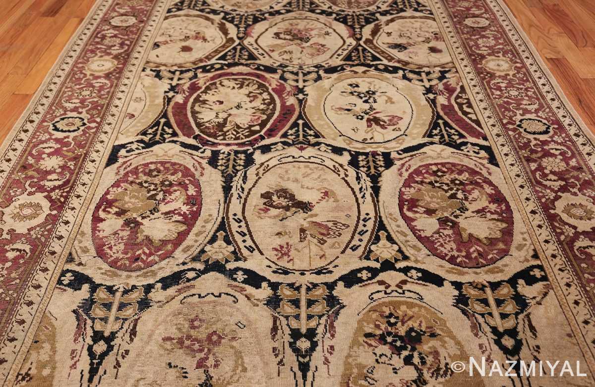 antique black karabagh caucasian rug 49314 field Nazmiyal