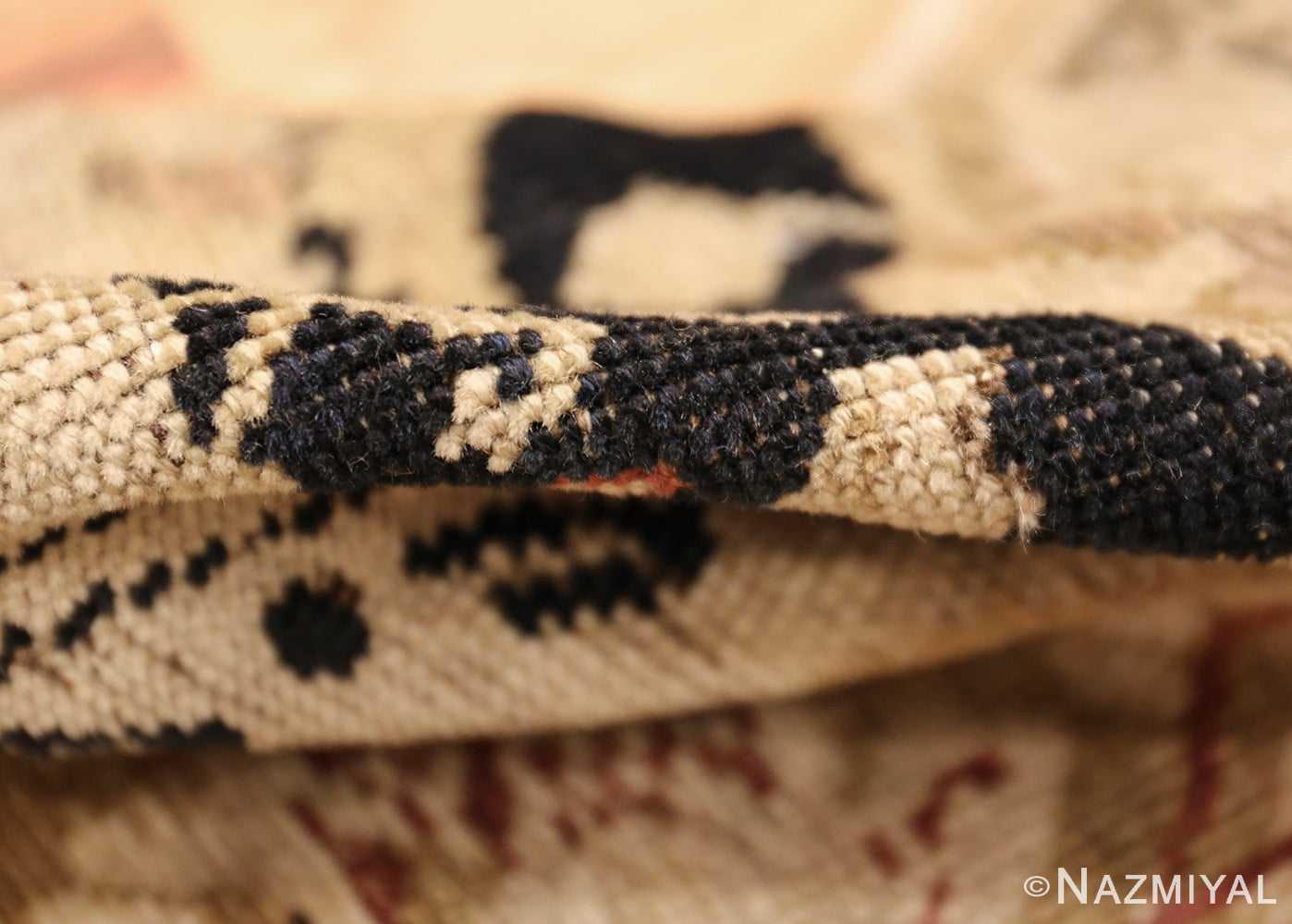antique black karabagh caucasian rug 49314 pile Nazmiyal