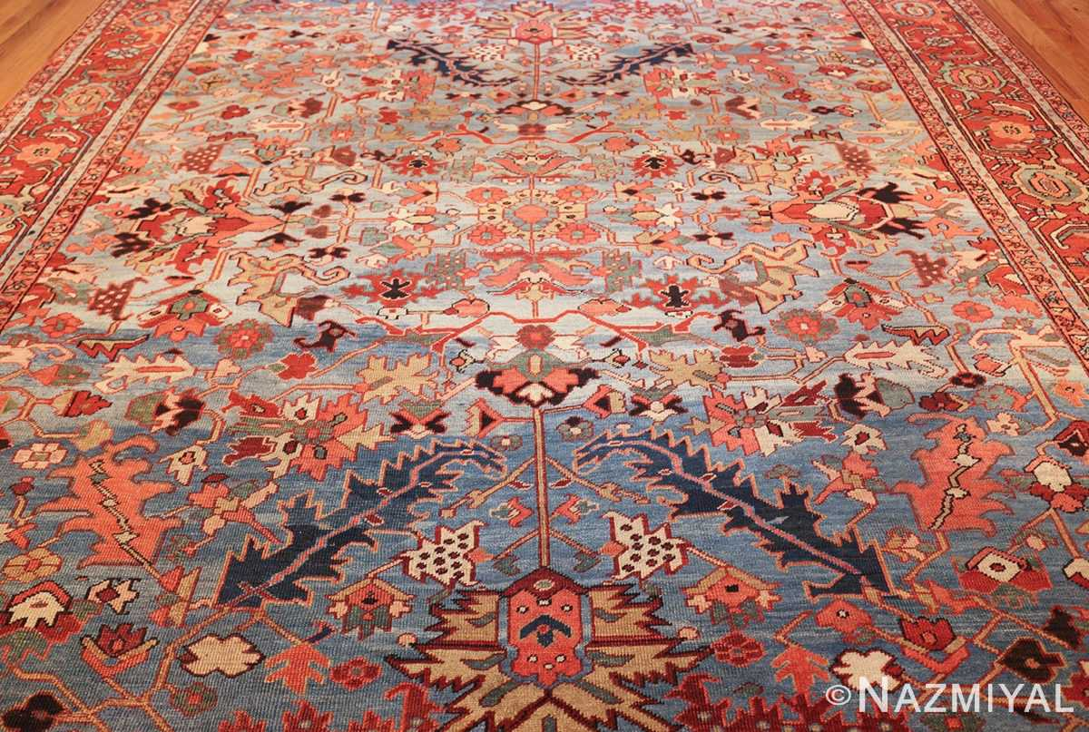 antique blue background heriz persian rug 49374 field Nazmiyal