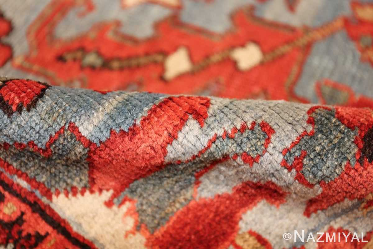 antique blue background heriz persian rug 49374 pile Nazmiyal