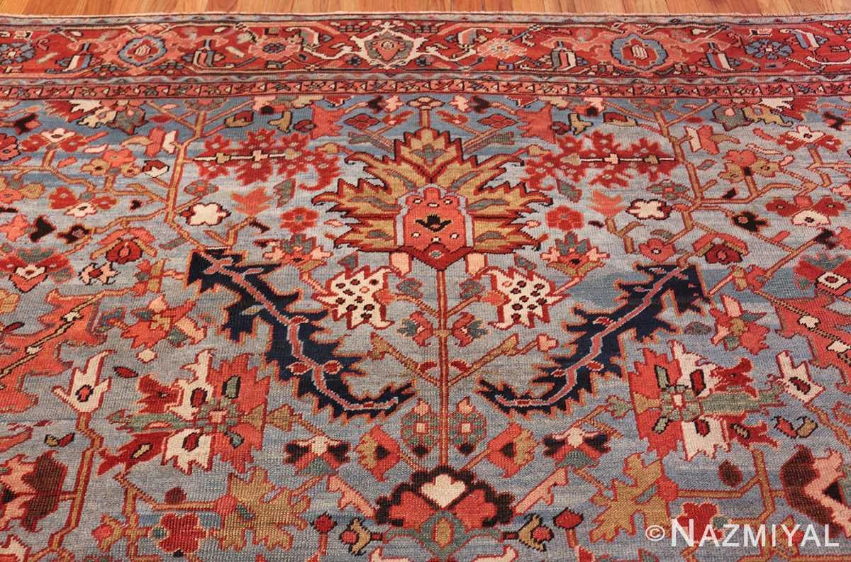 antique blue background heriz persian rug 49374 top Nazmiyal