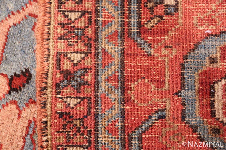 antique blue background heriz persian rug 49374 weave Nazmiyal