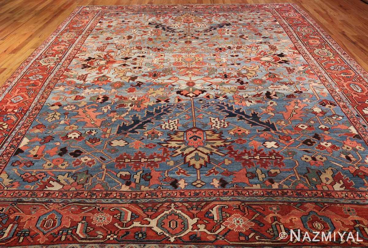antique blue background heriz persian rug 49374 whole Nazmiyal