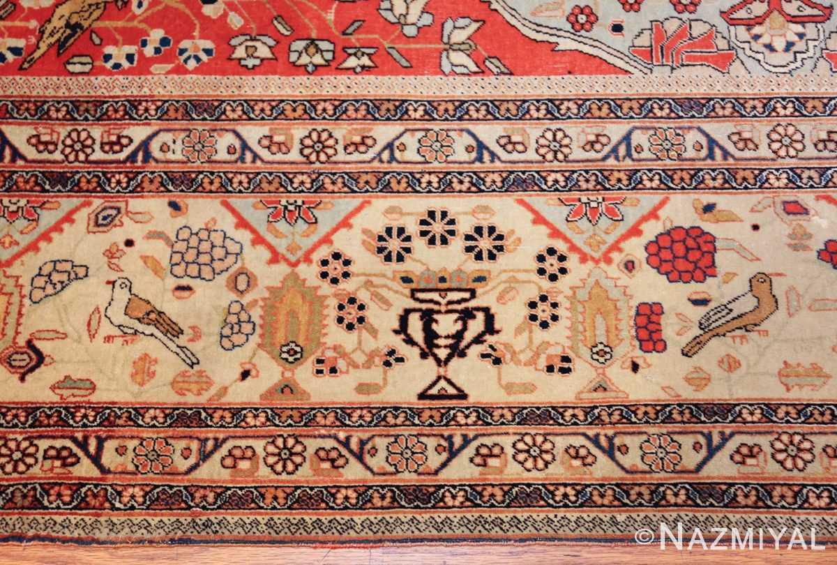 antique light blue mohtasham kashan persian rug 49452 border Nazmiyal