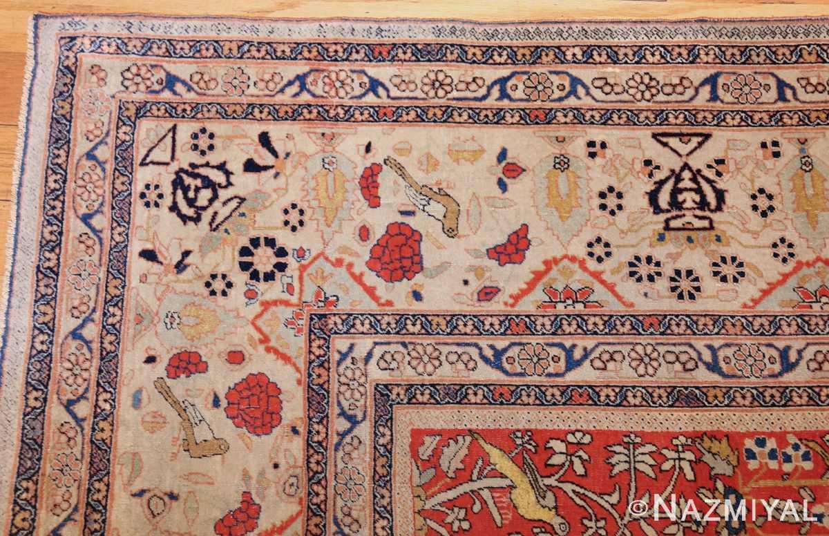 antique light blue mohtasham kashan persian rug 49452 corner Nazmiyal