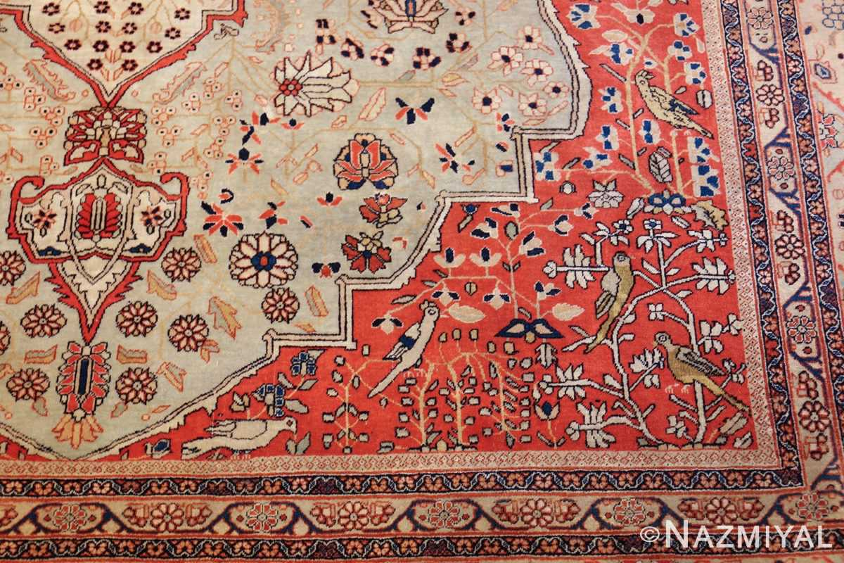 antique light blue mohtasham kashan persian rug 49452 design Nazmiyal