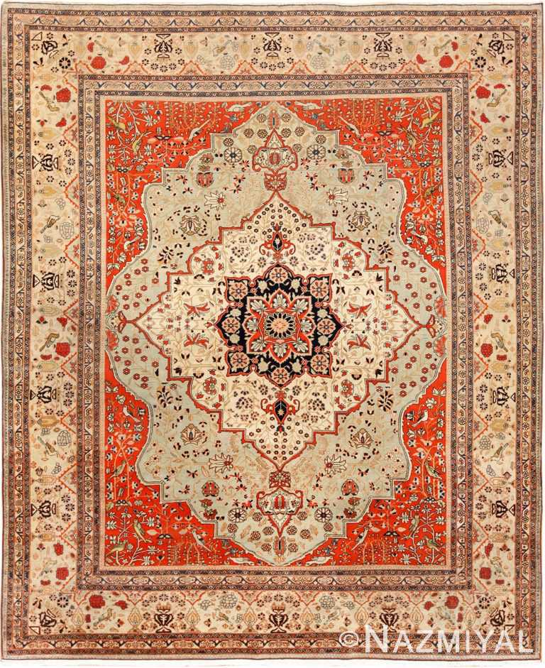 antique light blue mohtasham kashan persian rug 49452 Nazmiyal