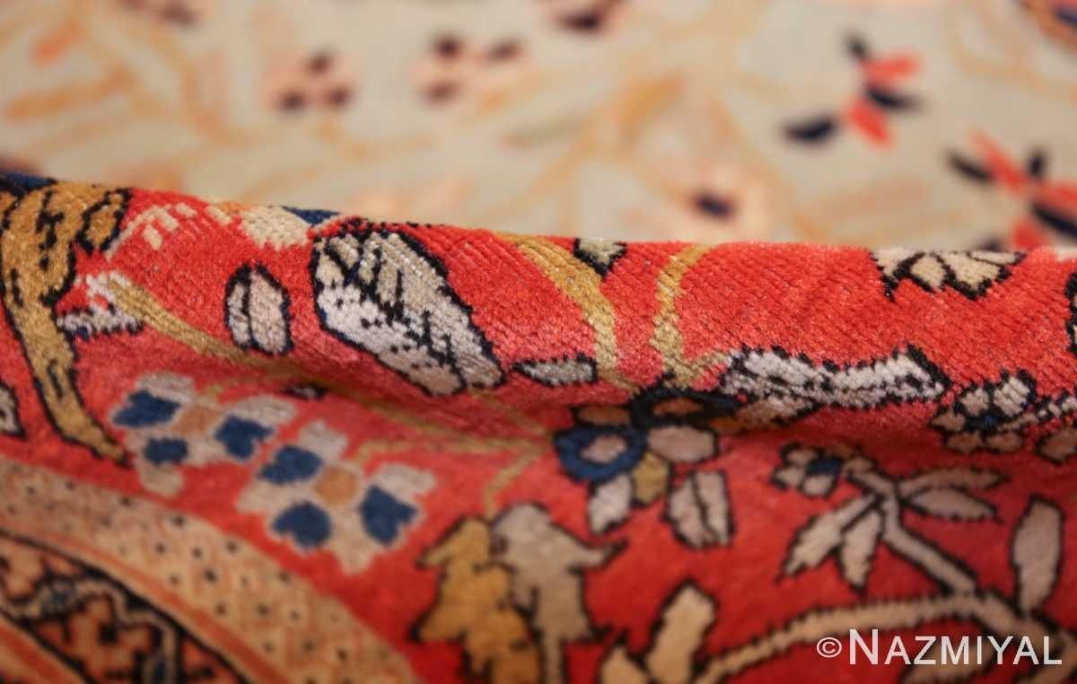 antique light blue mohtasham kashan persian rug 49452 pile Nazmiyal