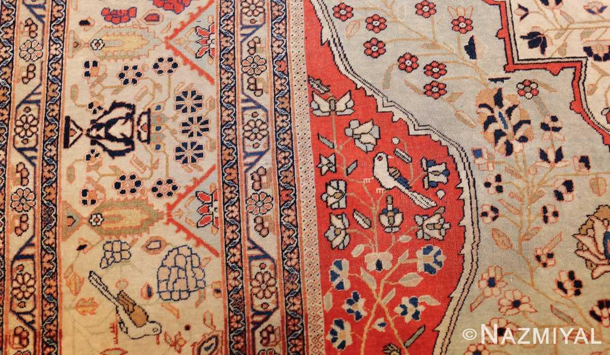 antique light blue mohtasham kashan persian rug 49452 side Nazmiyal