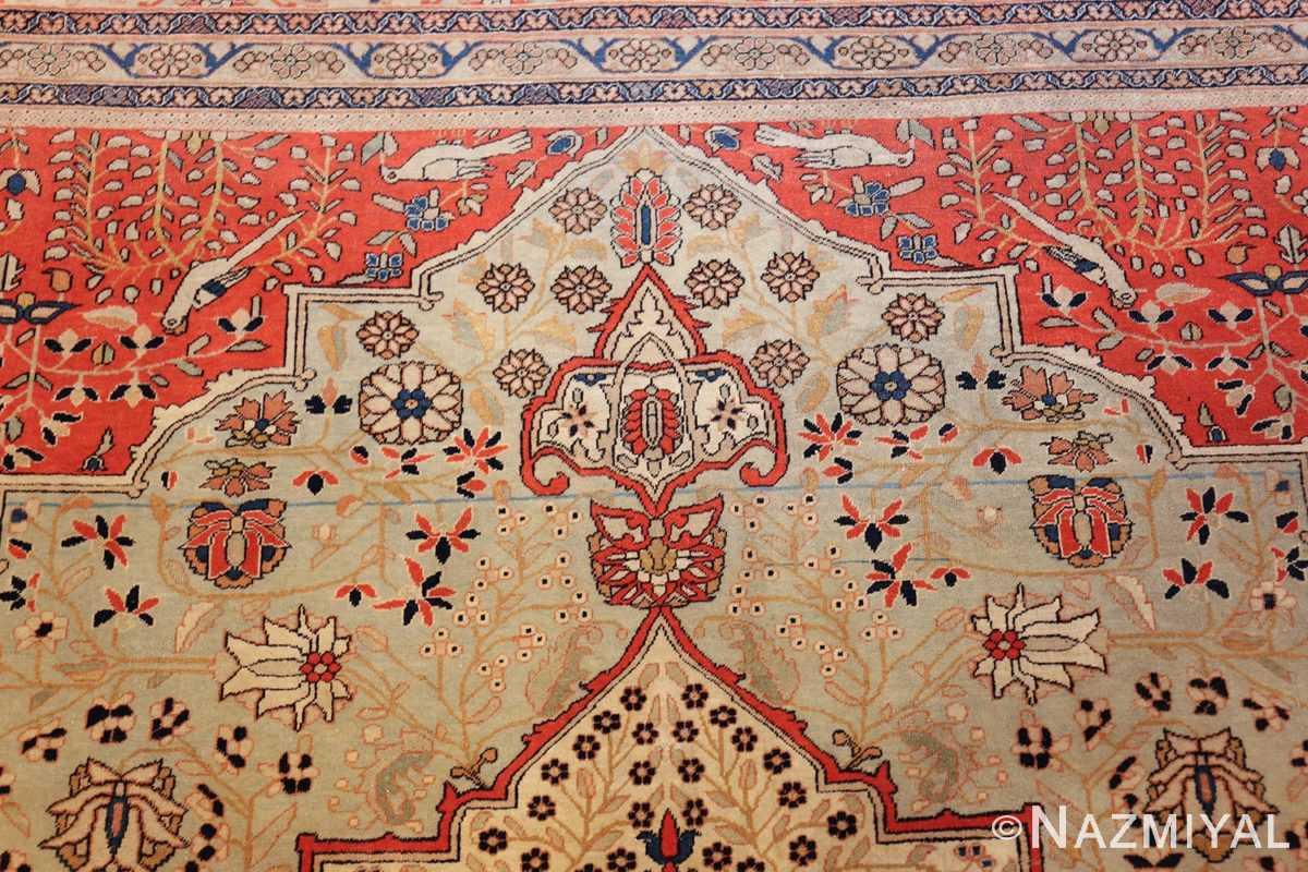 antique light blue mohtasham kashan persian rug 49452 top Nazmiyal