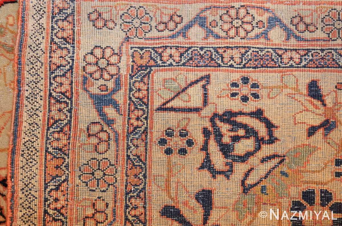 antique light blue mohtasham kashan persian rug 49452 weave Nazmiyal