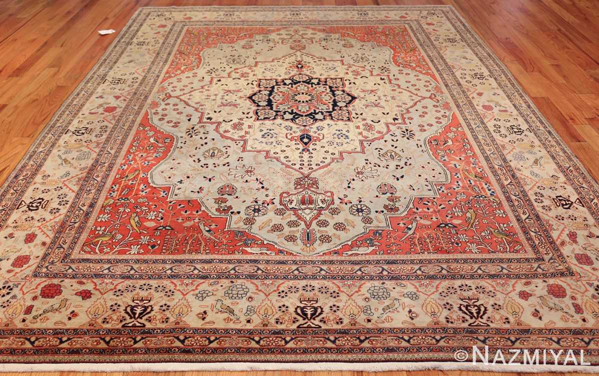 antique light blue mohtasham kashan persian rug 49452 whole Nazmiyal
