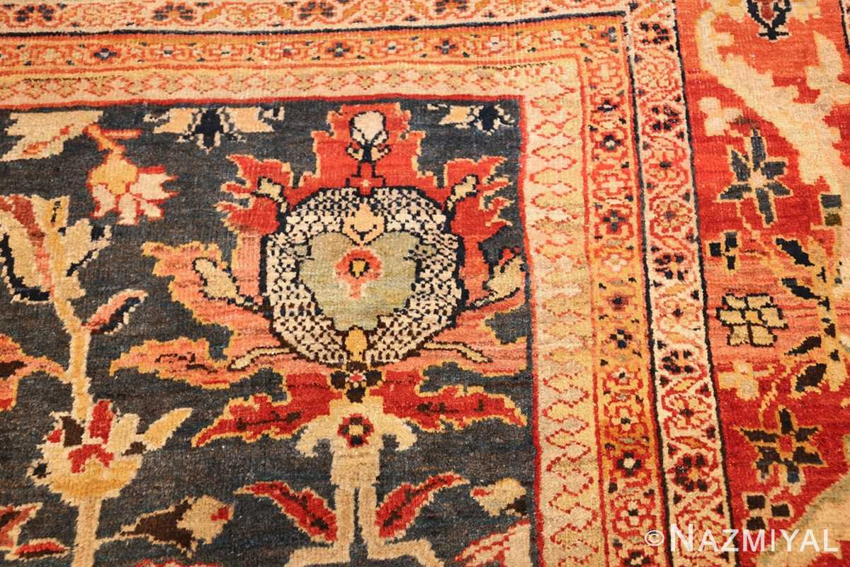 green background antique sultanabad persian rug 49389 design Nazmiyal