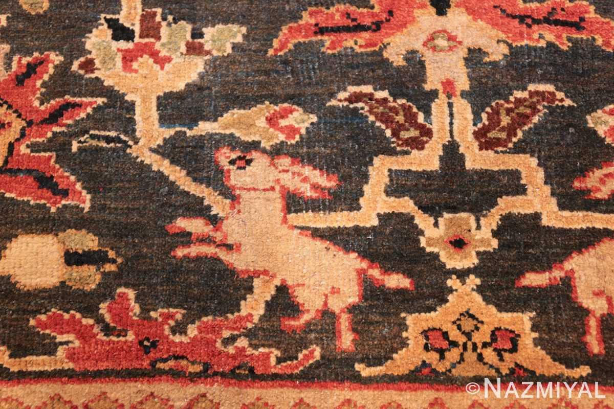 green background antique sultanabad persian rug 49389 hoping Nazmiyal