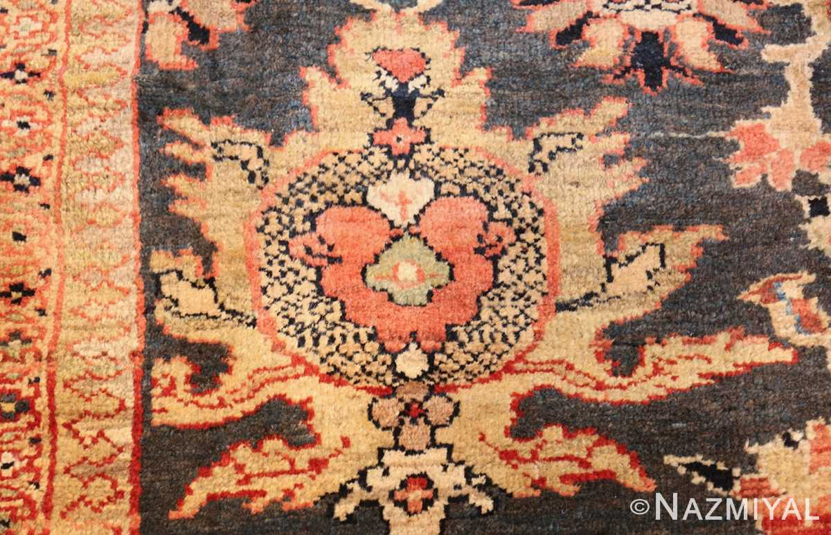 green background antique sultanabad persian rug 49389 pattern Nazmiyal
