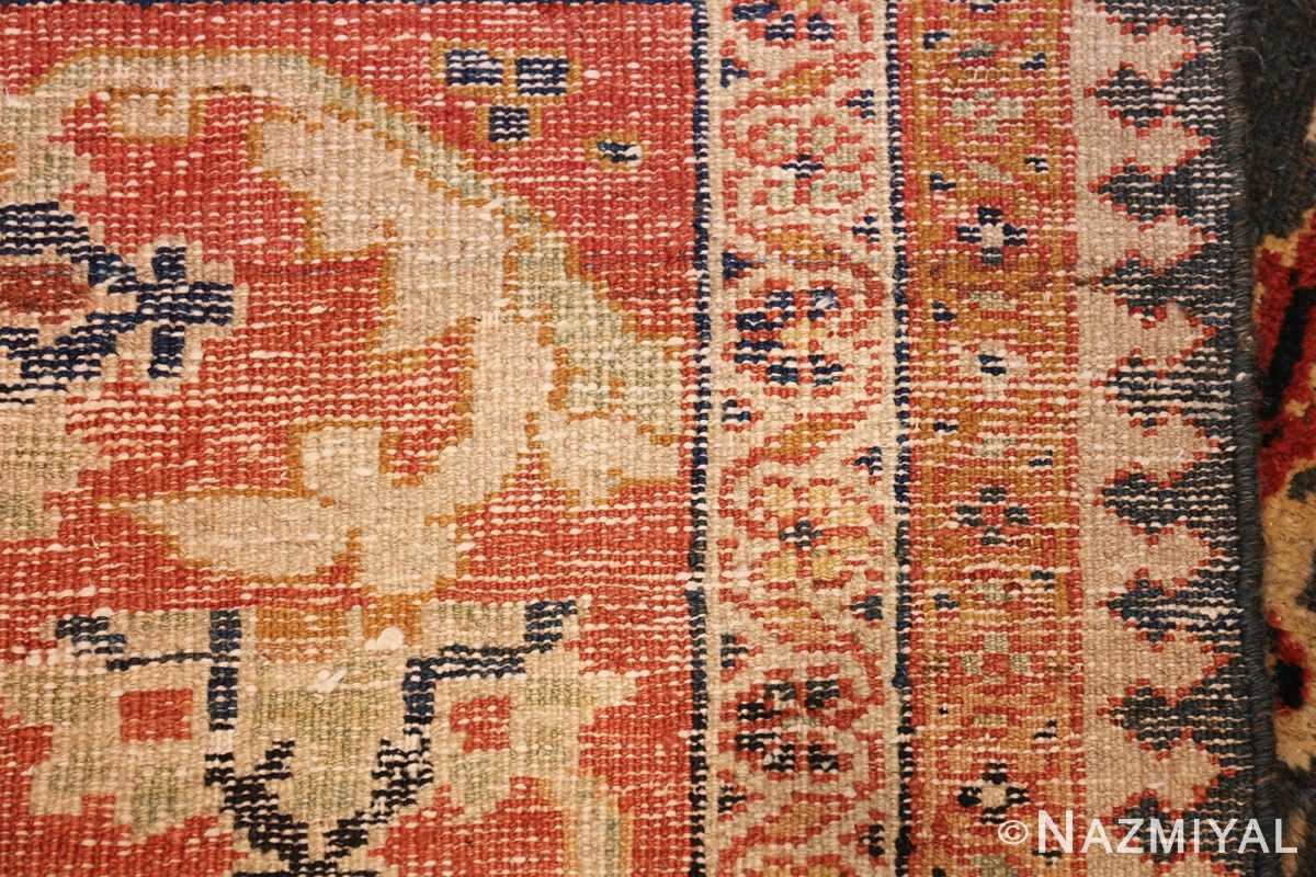 green background antique sultanabad persian rug 49389 weave Nazmiyal