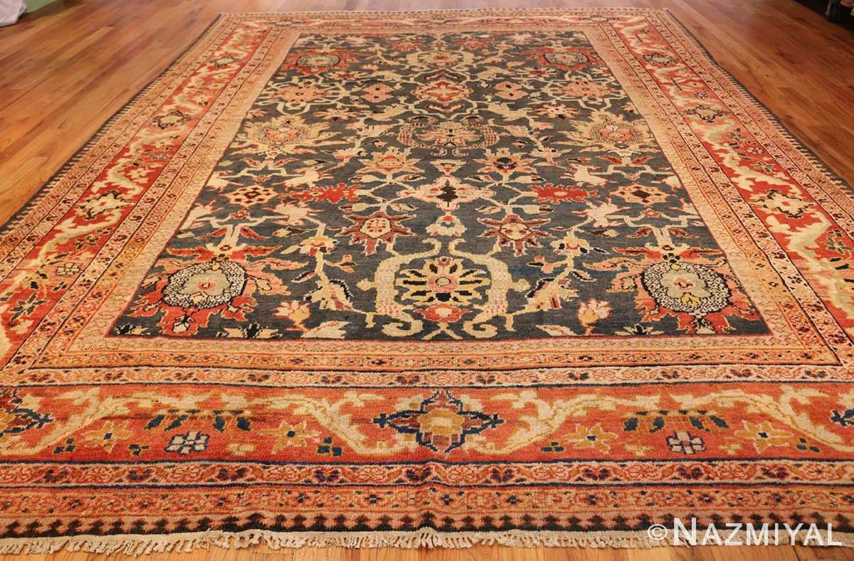 green background antique sultanabad persian rug 49389 whole Nazmiyal