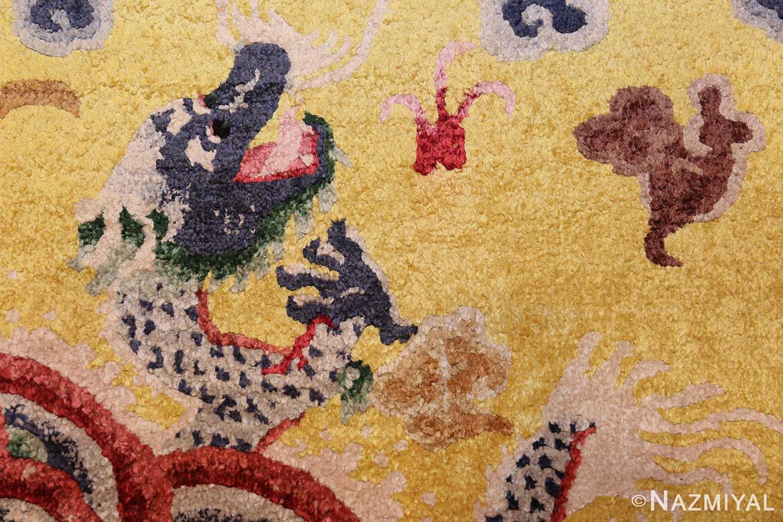 small size antique silk chinese rug 49455 head Nazmiyal
