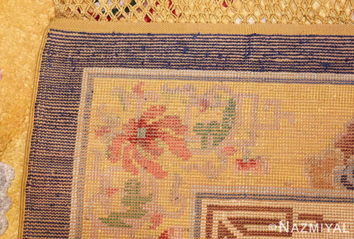 small size antique silk chinese rug 49455 weave Nazmiyal