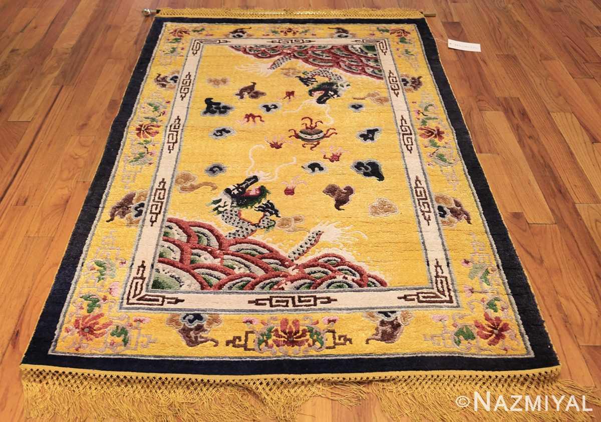 small size antique silk chinese rug 49455 whole Nazmiyal