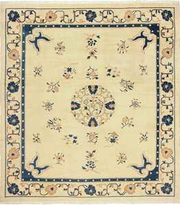 antique cream background chinese rug 49480 Nazmiyal