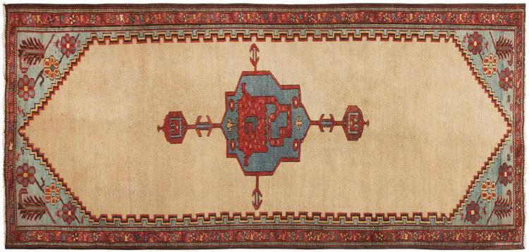 Antique Persian Bakshaish Rug by Nazmiyal