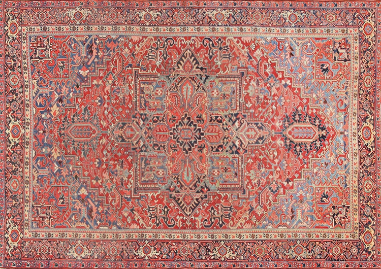 Antique Persian Heriz Carpet by Nazmiyal