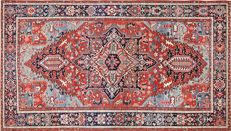 Antique Persian Heriz Rug by Nazmiyal