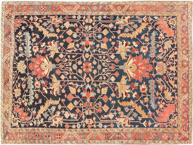 Antique Persian Heriz Serapi Carpet by Nazmiyal