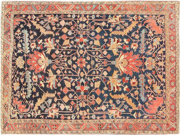 Antique Persian Heriz Serapi Carpet by Nazmiyal