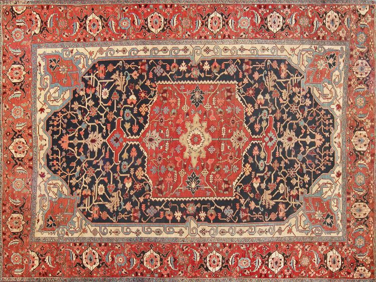 Antique Persian Heriz Serapi Rug by Nazmiyal