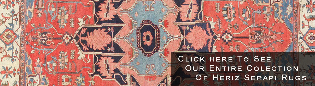 Antique Persian Heriz Serapi Rugs by Nazmiyal