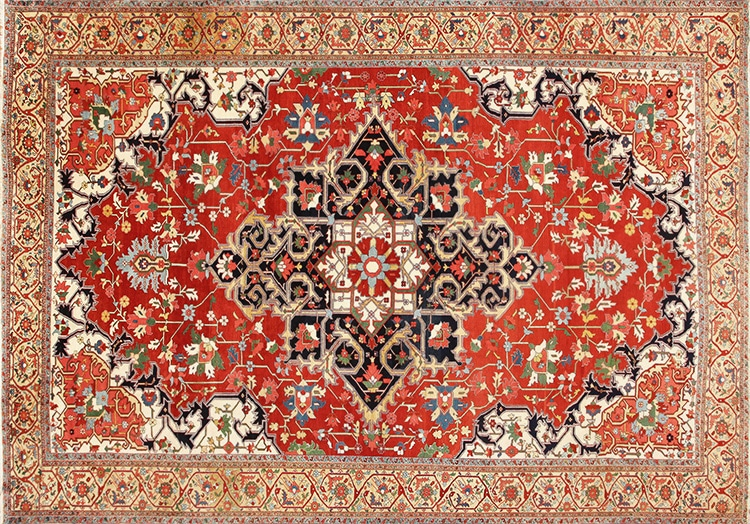 Antique Persian Serapi Heriz Rug by Namiyal