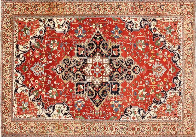 Antique Persian Serapi Heriz Rug by Namiyal