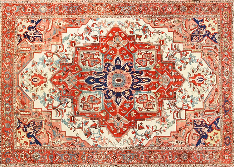 Antique Persian Serapi Rug by Nazmiyal