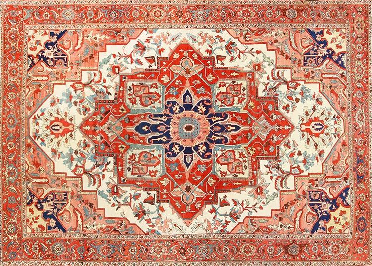 Antique Persian Serapi Rug by Nazmiyal